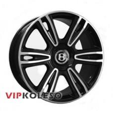 Replica Bentley (BN877) 9.5x21 5x112 ET41 DIA57.1 Black full polish