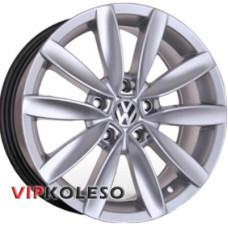 Replica Volkswagen (CT1303) 6.5x15 5x112 ET45 DIA57.1 Hyper Silver (Cупер серебро)
