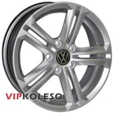 Replica Volkswagen VW-CT1327 6x14 5x100 ET40 DIA57.1 Hyper Silver (Cупер серебро)