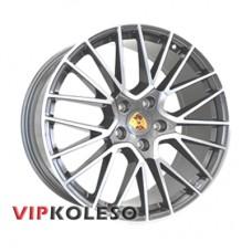 Replica Porsche PR678 11x21 5x130 ET58 DIA71.6 Gun metal full polish (Темно-серый с полированным ободом)